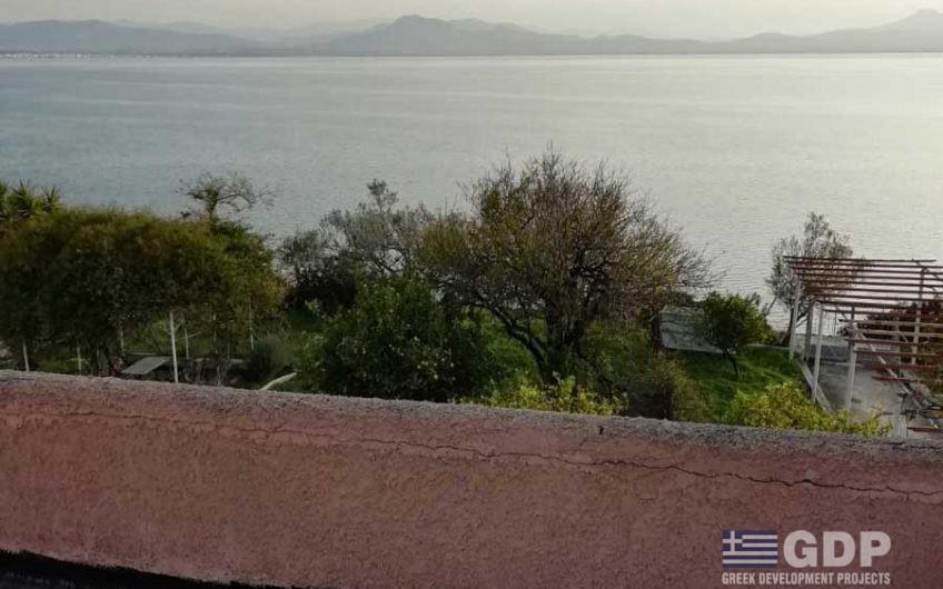 Seafront house for sale near Lourtraki, Greece